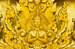 Estuco de oro del ángel Fotos de archivo libres de regalías