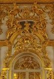 Estuco del oro en las paredes Imagen de archivo