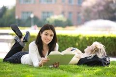 Estudando estudantes universitários Fotografia de Stock