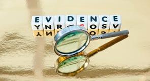 Estudando a evidência imagens de stock royalty free