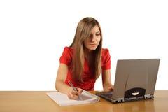 Estudando a menina Fotos de Stock