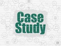 Estudando o conceito: Estudo de caso no fundo da parede ilustração do vetor