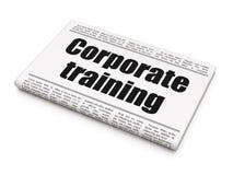 Estudando o conceito: treinamento incorporado do título de jornal fotografia de stock