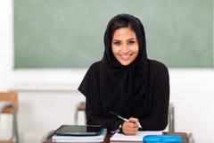 Estudante árabe da escola fotografia de stock