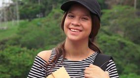 Estudante adolescente fêmea feliz imagem de stock