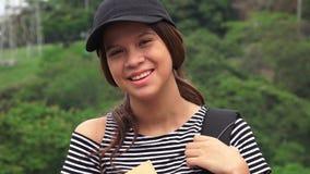Estudante adolescente fêmea feliz fotografia de stock royalty free