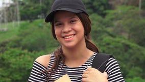Estudante adolescente fêmea feliz fotografia de stock
