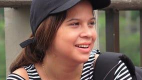 Estudante adolescente fêmea latino-americano foto de stock royalty free