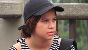 Estudante adolescente fêmea sério imagem de stock royalty free