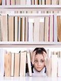 Estudante amedrontado Fotografia de Stock