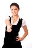 Estudante bonito com seu polegar acima Fotografia de Stock Royalty Free