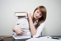 Estudante bonito confuso Fotos de Stock