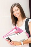 Estudante bonito pronto para a classe Fotos de Stock Royalty Free