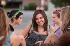 Estudante caucasiano alegre fotos de stock