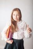 Estudante com caderno Fotos de Stock Royalty Free