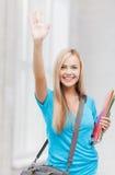 Estudante com dobradores Fotos de Stock Royalty Free