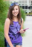 Estudante com E-Livro Fotografia de Stock