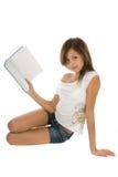 Estudante com livro Imagem de Stock Royalty Free