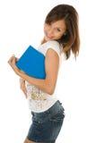 Estudante com livro fotos de stock