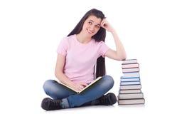 Estudante com livros Foto de Stock Royalty Free