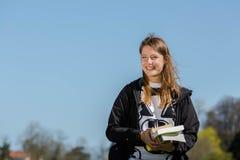 Estudante com livros Imagem de Stock