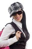 Estudante com saco de escola Fotos de Stock Royalty Free