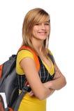 Estudante com trouxa Fotos de Stock Royalty Free