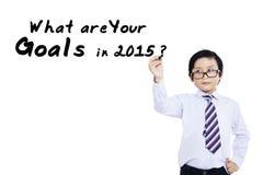 Estudante com uma pergunta do negócio Imagem de Stock Royalty Free