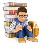 estudante 3D novo comprimido bullying Imagem de Stock