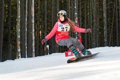 Estudante da escola da snowboarding Imagem de Stock