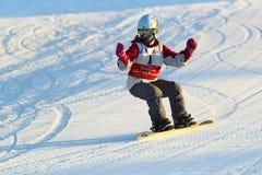 Estudante da escola da snowboarding Fotografia de Stock Royalty Free