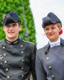 Estudante da escola de engenharia politécnica (polytechnique de Ecole) durante a parada militar (desfile) dentro fotos de stock royalty free