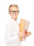 Estudante da escola primária com dobradores Fotos de Stock Royalty Free