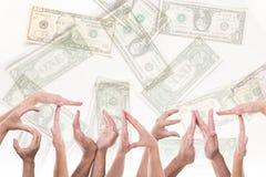 Estudante da palavra na frente dos dólares Imagem de Stock Royalty Free