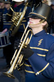 Estudante da trompetista Foto de Stock
