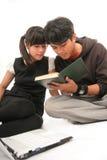 Estudante de dois Asian fotografia de stock