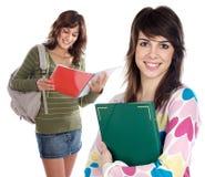 Estudante de duas irmãs fotos de stock royalty free