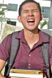 Estudante de minoria novo And Laughter imagens de stock royalty free