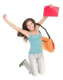 Estudante de salto do sucesso isolado Imagem de Stock Royalty Free