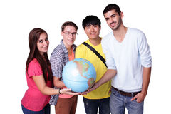 Estudante de troca feliz foto de stock royalty free