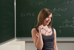 Estudante de vista impertinente Imagens de Stock
