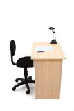 Estudante Desk e cadeira com trajeto de grampeamento Fotografia de Stock