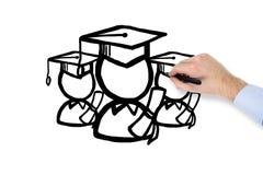 Estudante do desenho da mão Imagem de Stock Royalty Free