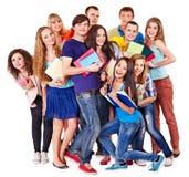 Estudante do grupo com caderno. Fotografia de Stock