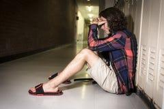 Estudante do jovem adolescente na faculdade Imagem de Stock Royalty Free