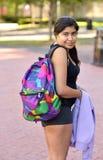 Estudante do Oriente Médio novo no terreno Foto de Stock Royalty Free