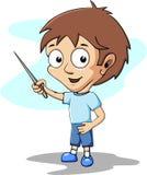 Estudante dos desenhos animados Fotografia de Stock Royalty Free