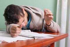 Estudante e lápis Imagem de Stock