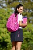 Estudante fêmea adolescente With Backpack fotografia de stock royalty free