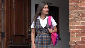 Estudante fêmea adolescente confuso ou infeliz fotografia de stock